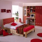 light and bold red color combinations bedroom natural bold red closet natural color working table light natural color mat red hanging book shelfs red and white bedsheet