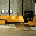 living-room-furniture-outstanding-living-room-decorating-feat-beautiful-natural-stone-wall-design-with-lovely-yellow-fabric-chaise-lounge-sofa-near-dark-brown-lacquer-glass-cabinet-as-well-as-high-qu
