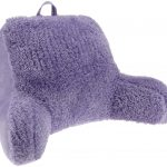 lovable purple sit up pillow design with fur fabric for smooth and comfortable seating