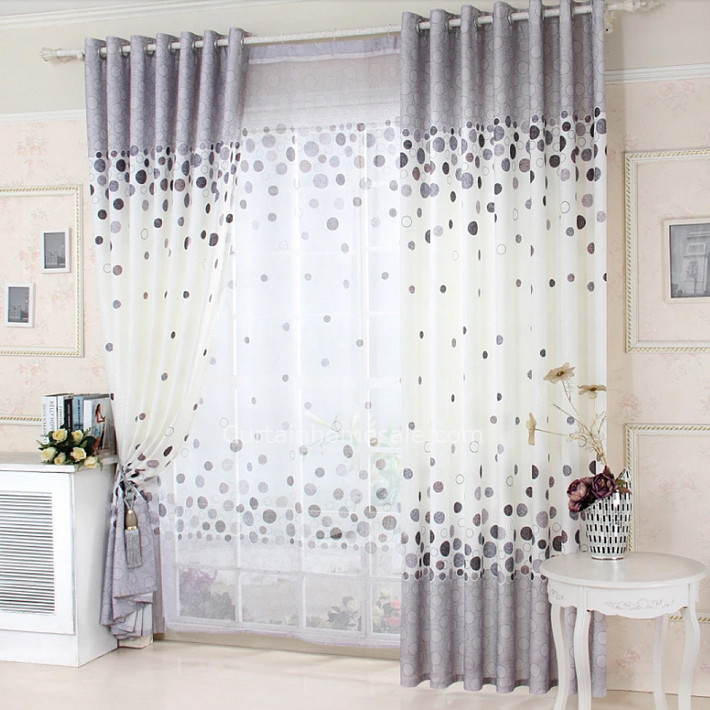 Interior Design Elegant Pink White Gray Baby Girl Room: Adorn Your Interior With White Patterned Curtains