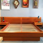 low profile bed frame wood table