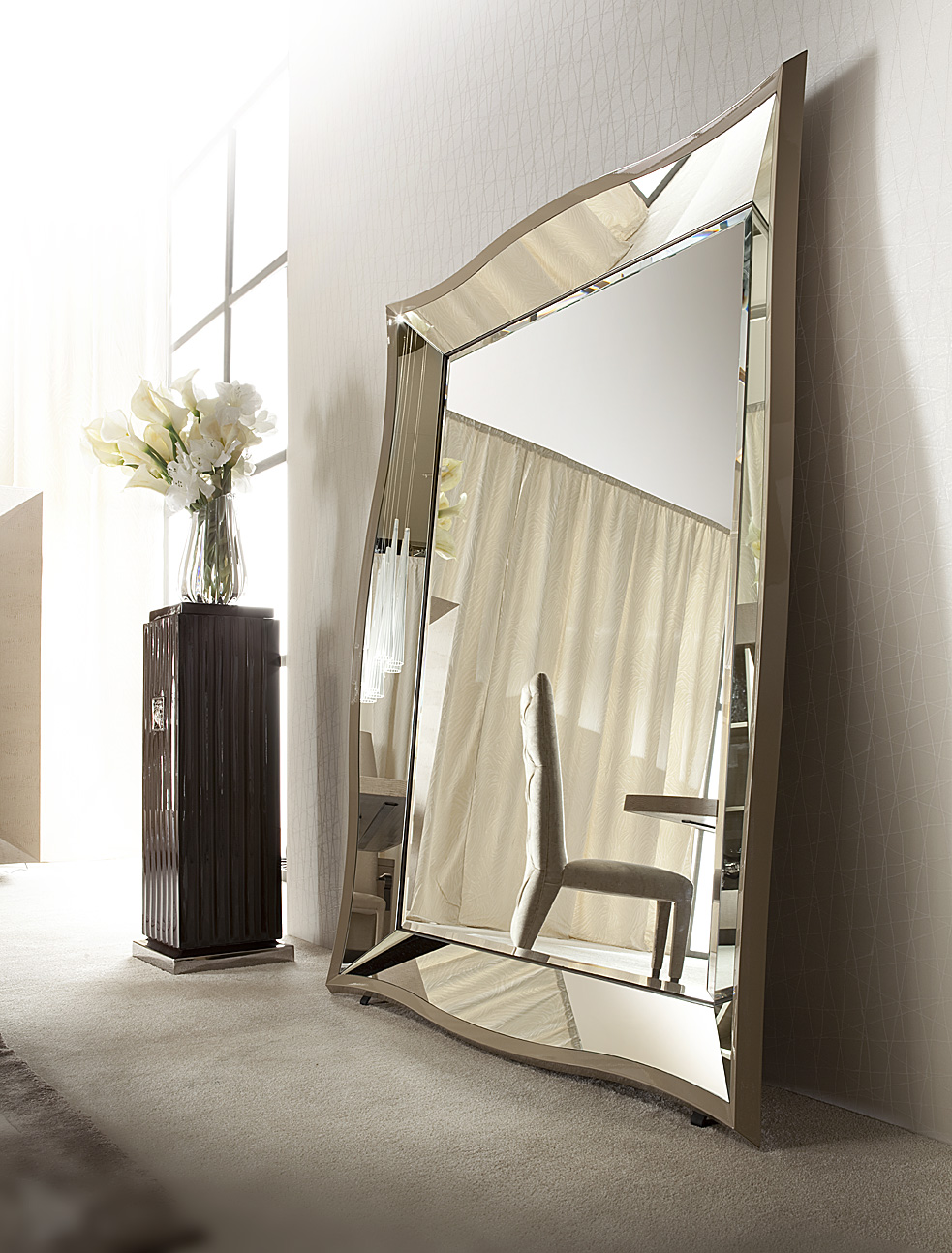 Some bevelled floor mirrors that add luxury for every for Floor mirror