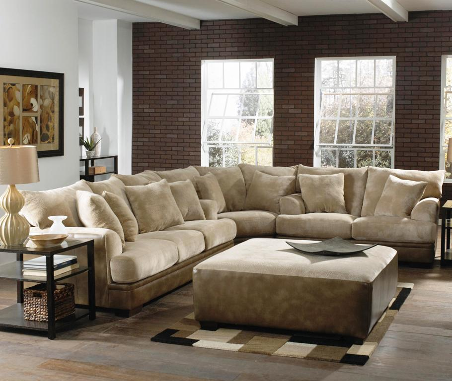 Luxurious Industrial Living Room Design With White Couch And Loveseat Set  With Rectangle Coffee Table On