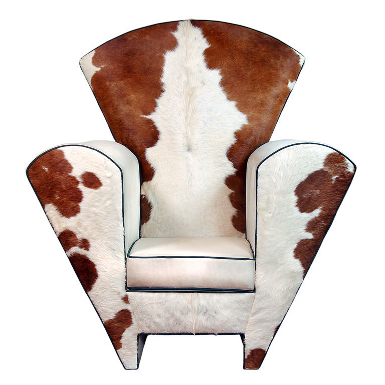 Have a Cow Print Chair for Interior with Sweet Milky Nuance : HomesFeed