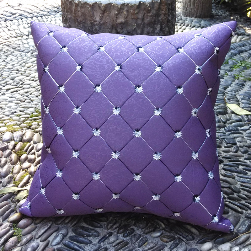 Purple Accent Pillow Interior With Lovely Outlook