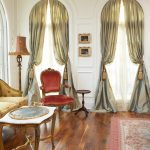 luxurious silver curtains for living room casement windows wooden floor elegant chairs and table and floor lamp