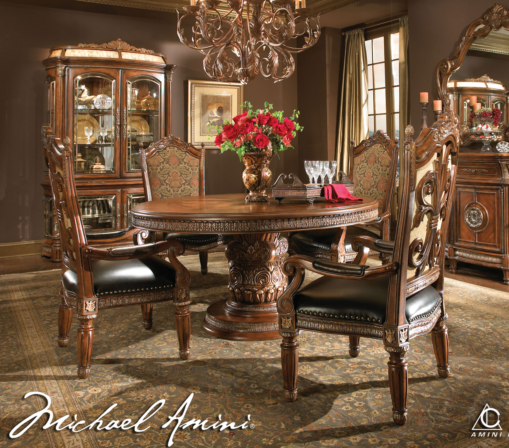 Elegant Dining Table: Adorable Round Dining Room Table Sets For 4