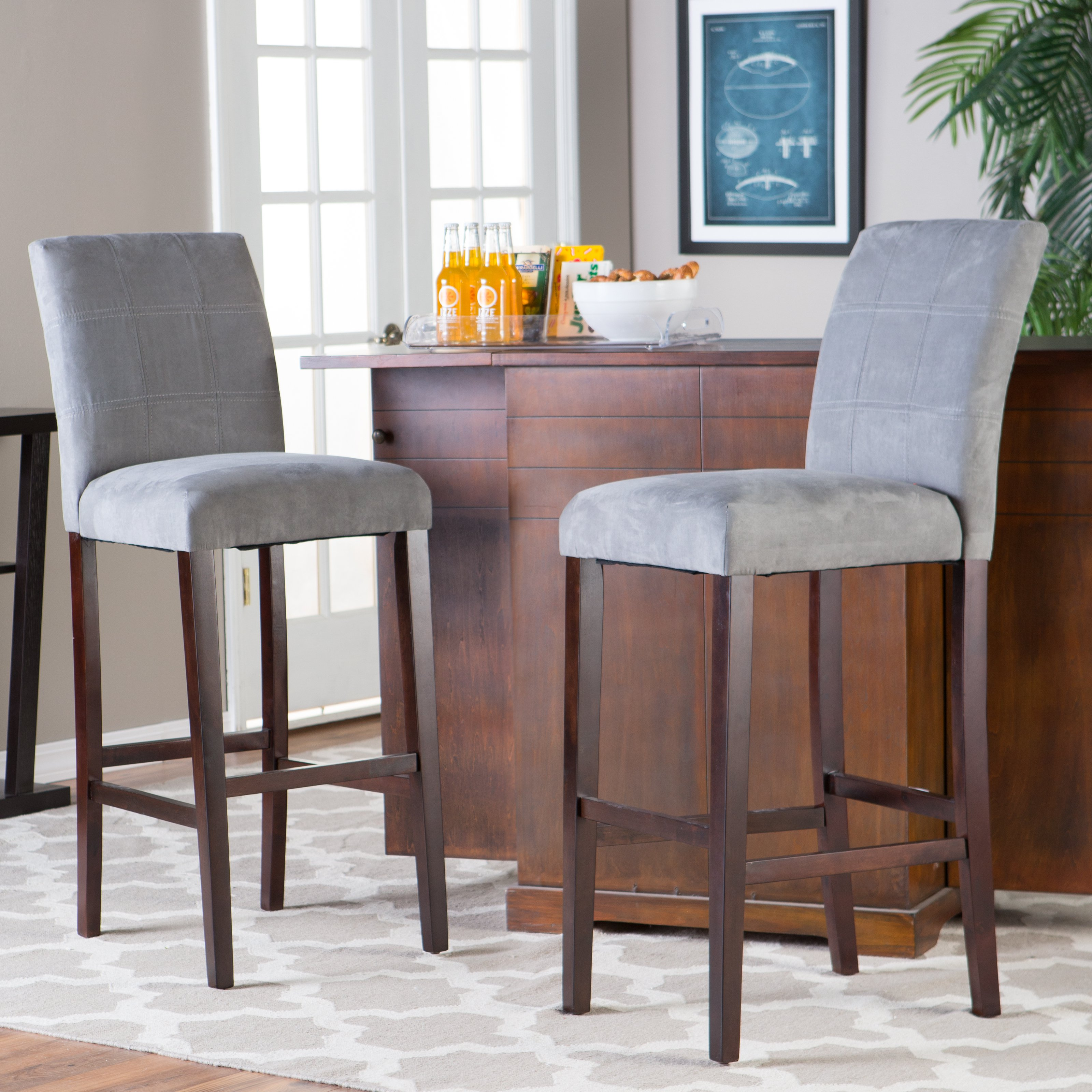 Bar stool chairs with backs - Bar Stools Backs Wood Table Window Picture Rug