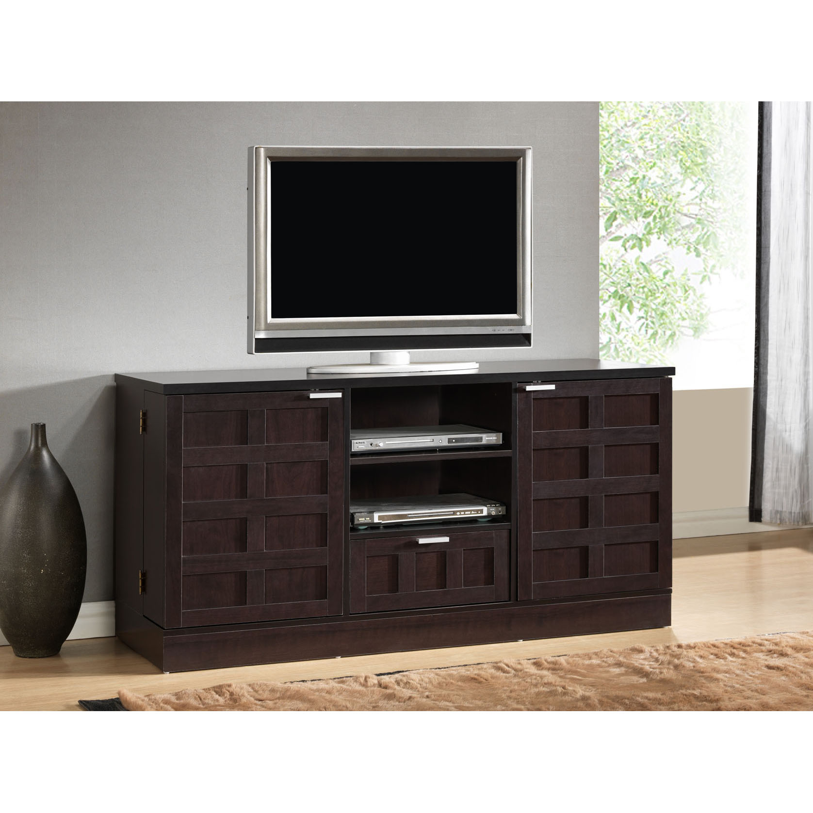 Wooden Cabinet Designs For Living Room long media cabinet for your living room | homesfeed