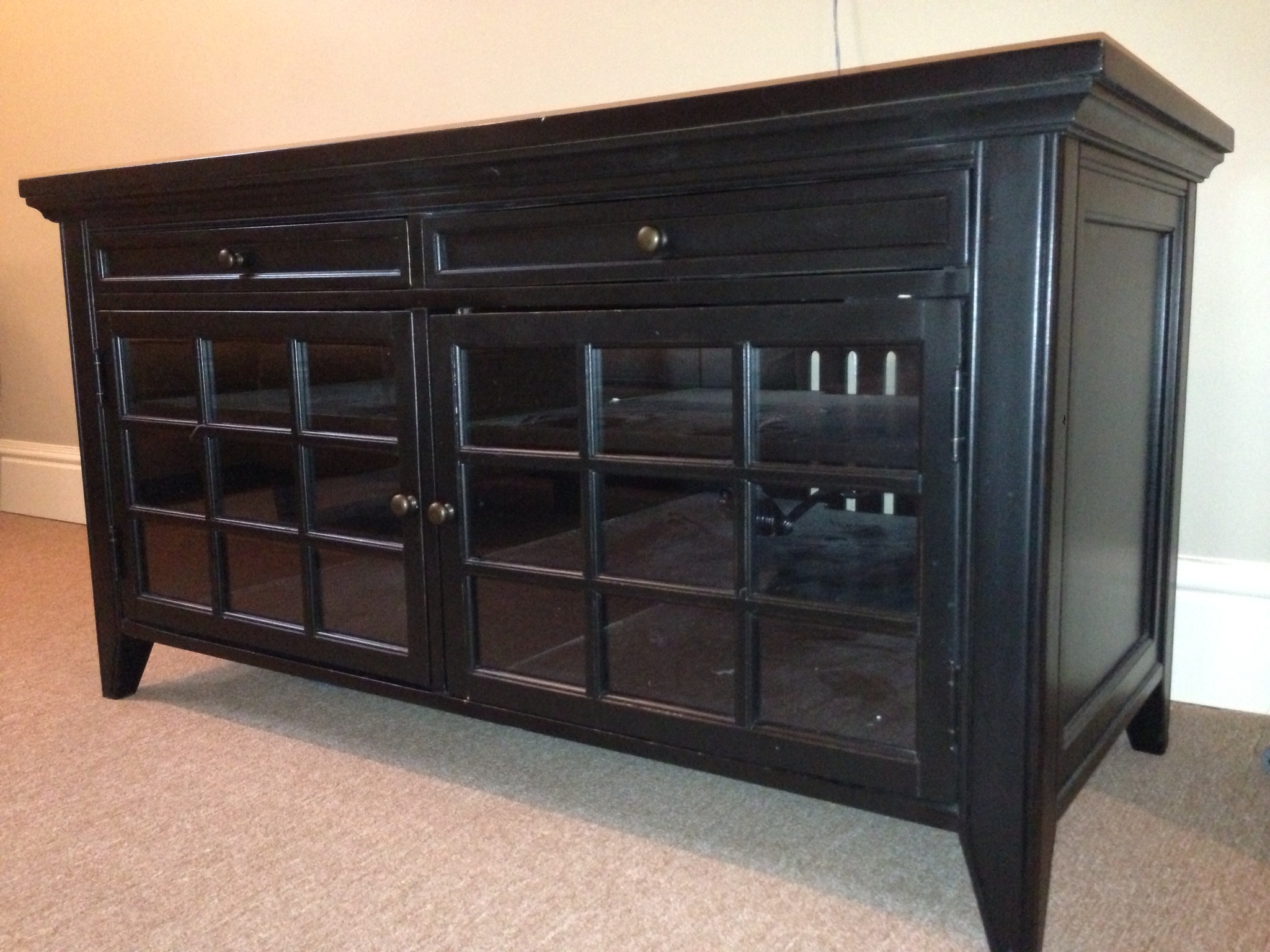 Long media cabinet for your living room homesfeed for Living room media furniture