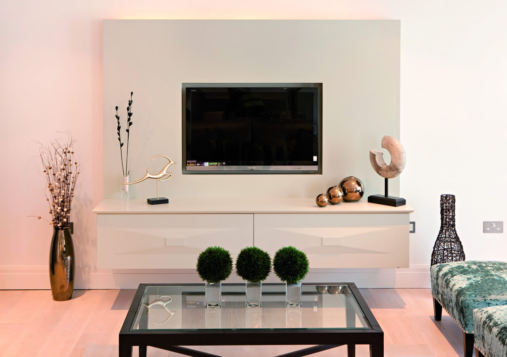 Flat Screen TV Wall Cabinets Offering Space-Saving Furniture Ideas ...