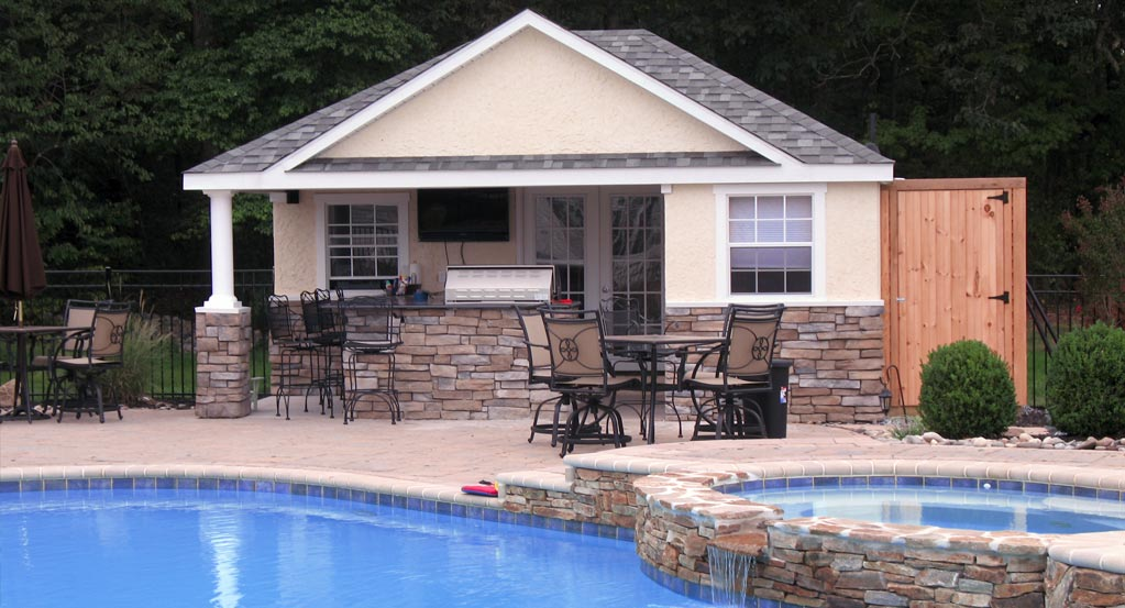 Pool cabana plans that are perfect for relaxing and for Outdoor pool house designs