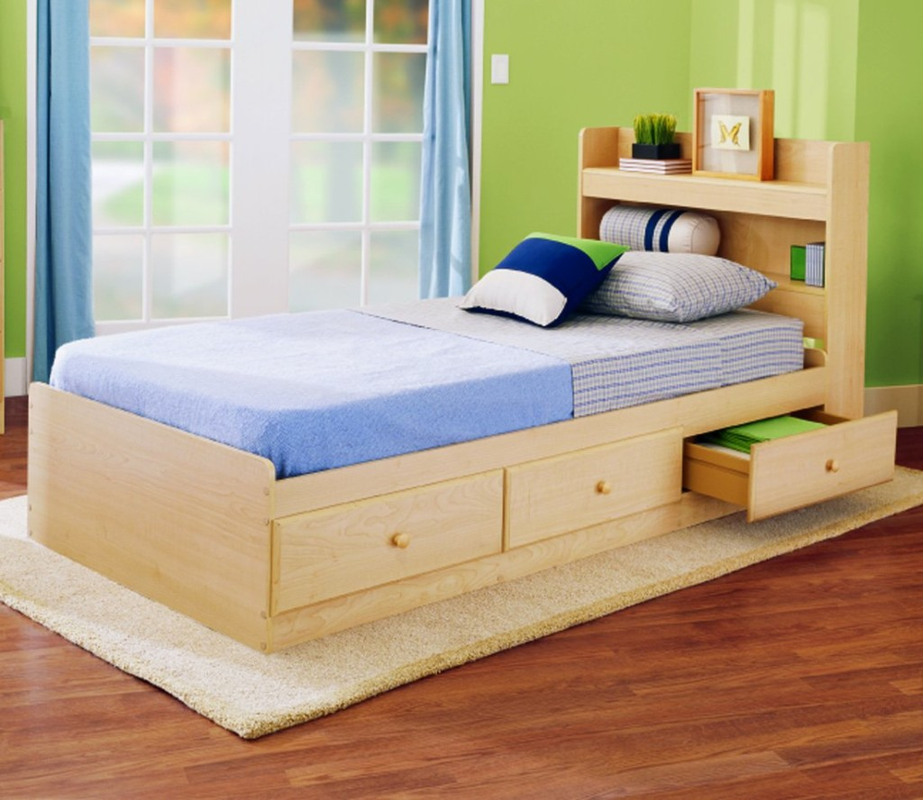 Trundle beds for children to create an accessible bedroom - Bed with storage underneath ...