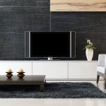 sweet well designed minimalist living room furniture | Ikea White TV Stand: Sweet Couple for Minimalism | HomesFeed