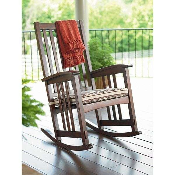 mission style wooden rocking chair design with armrest feature - Mission Style Rocking Chair: History And Designs HomesFeed