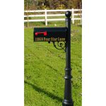 modern black lawn address signs house number and street name green grass