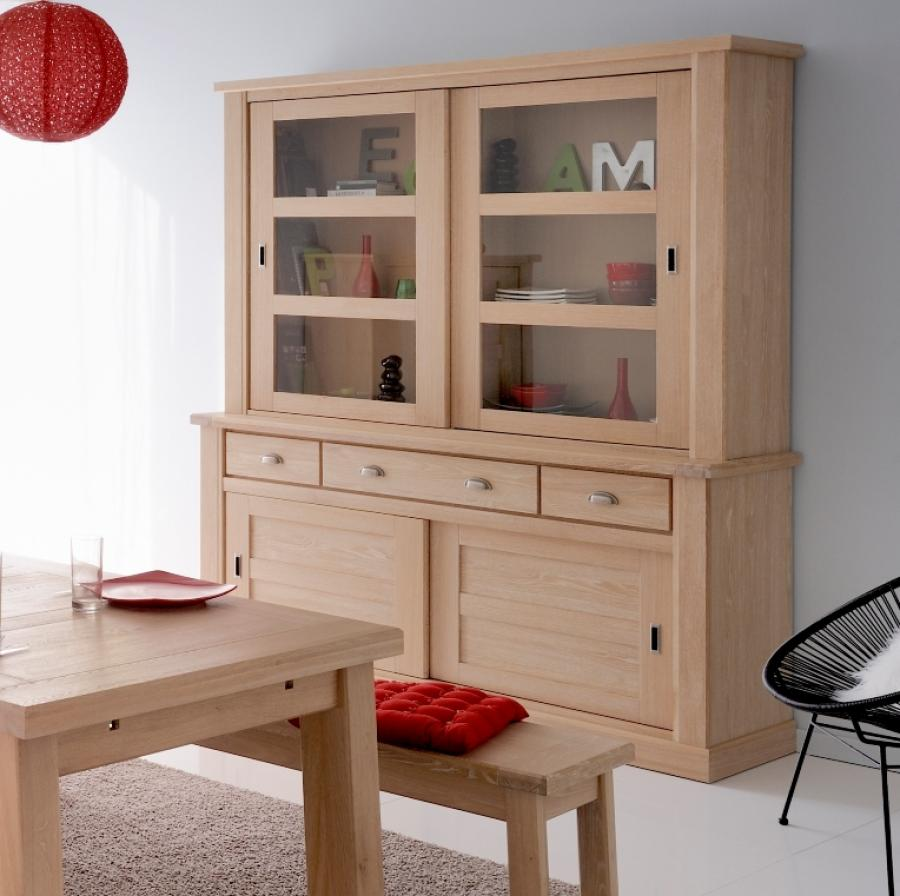 Modern cabinet system in modern style for modern dining room unfinished wood bench and table as