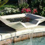 modern front yard fountain design aside pool with wondrous garden design