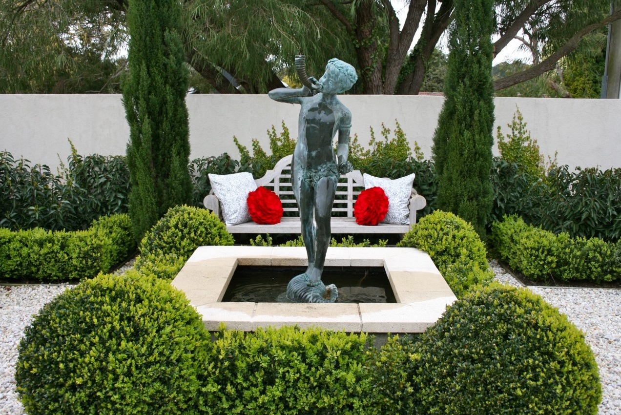 Backyard Statues front yard fountain takes the best water feature for garden | homesfeed
