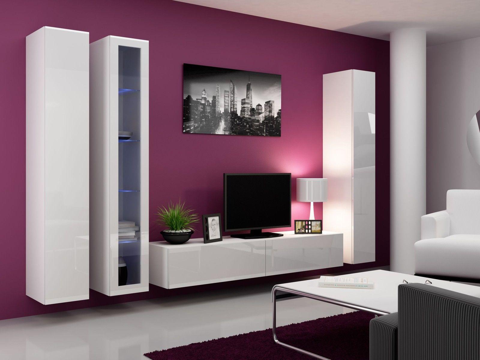 Ikea White Tv Stand Sweet Couple For Minimalism Homesfeed # Meuble Tv Living Salon Ikea