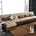 modern most comfortable sofas with sectional sleeper sofa and cushions plus standing shade lamp and brown rug and ottoman coffee table