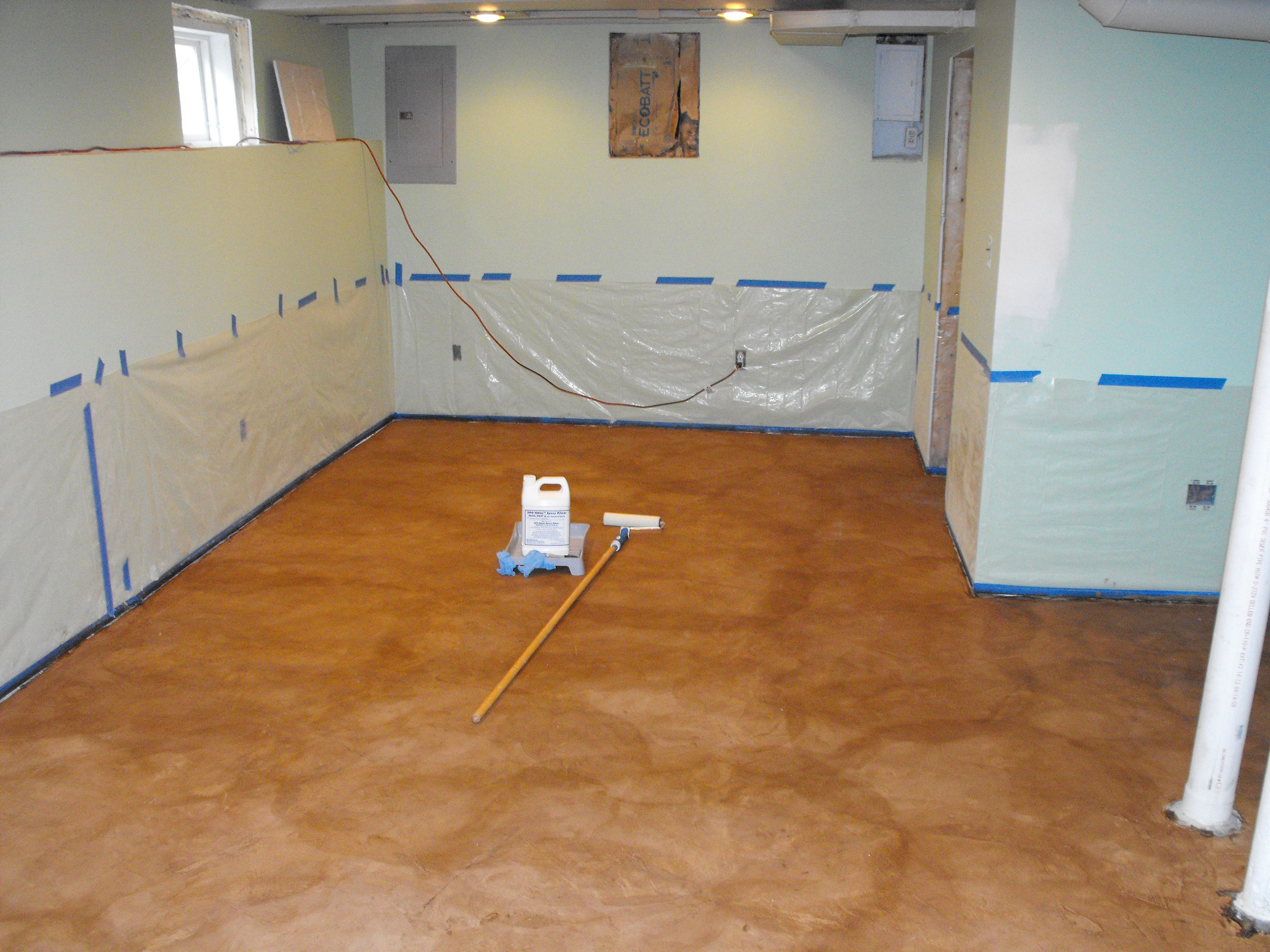 Modern basement flooring for Basement concrete cleaner