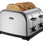 modern toaster design in chrome tone with double adjustment and black accent