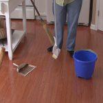 mop for wood floors brown wooden floors blue bucket white table