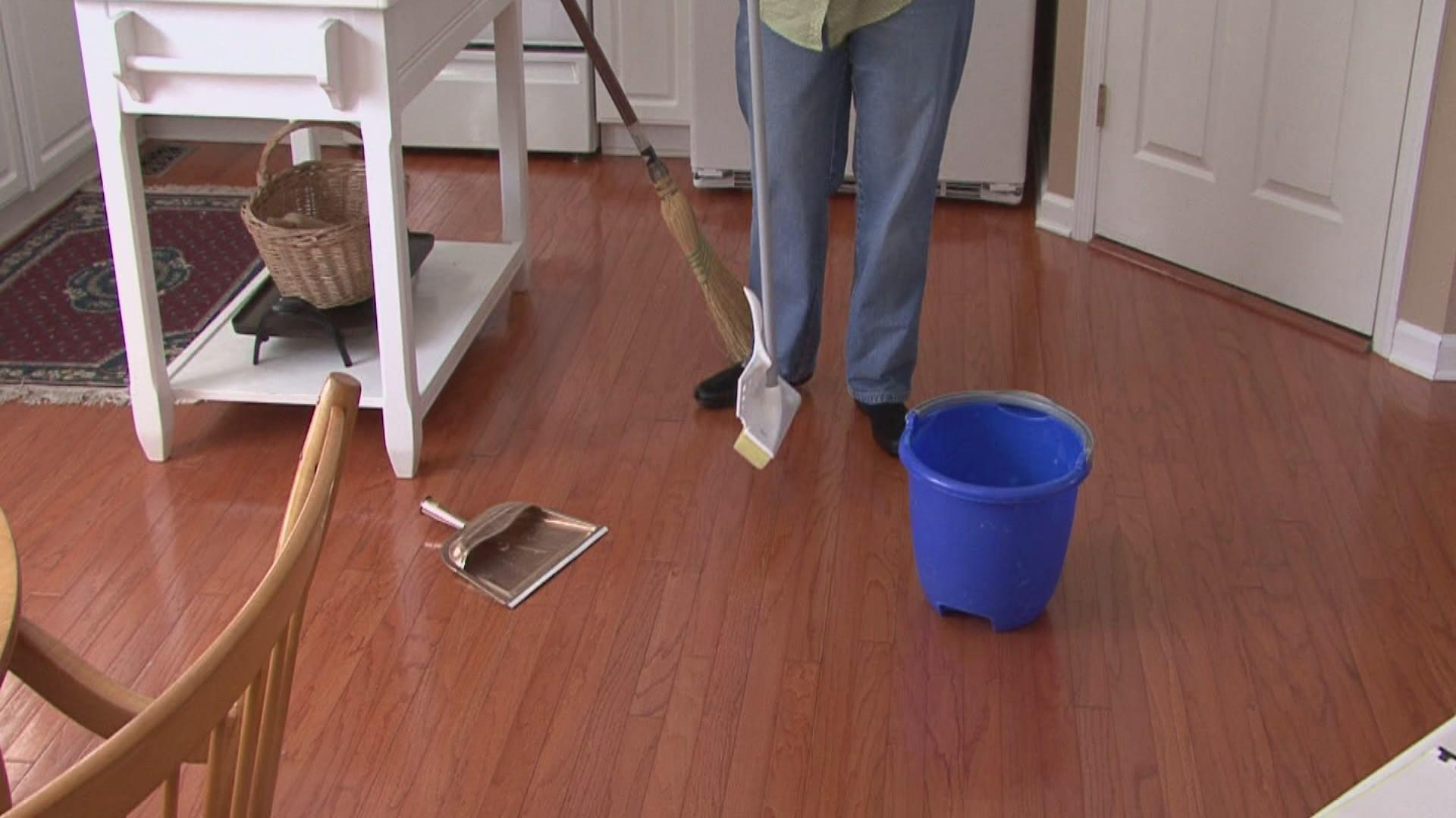 Best tips and mop for wood floors homesfeed mop for wood floors brown wooden floors blue bucket white table dailygadgetfo Choice Image