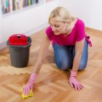 mop for wood floors hand mopping beautiful natural wooden floor gray bucket