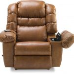 Most Comfortable Recliner In Brown With Message And Remote Control Plus Comfortable Back And Arms With Storage
