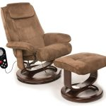 Most Comfortable Recliner With Modern Design In Light Brown With Stool And Wood Frame Plus Remote To Set The Back