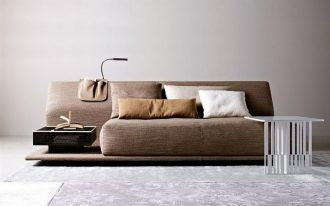 most comfortable sofas in brown with comfy material and cushion with with coffee table and gray rug