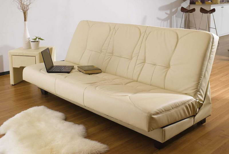 High Quality Most Comfortable Sofas In Leater With Side Table And Vase Plus Soft Rug And  Wooden Floor