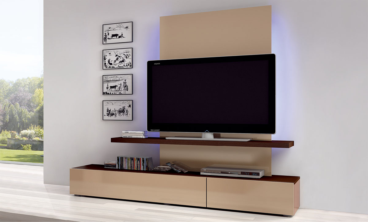 Flat screen tv wall cabinets offering space saving for Tv media storage cabinet