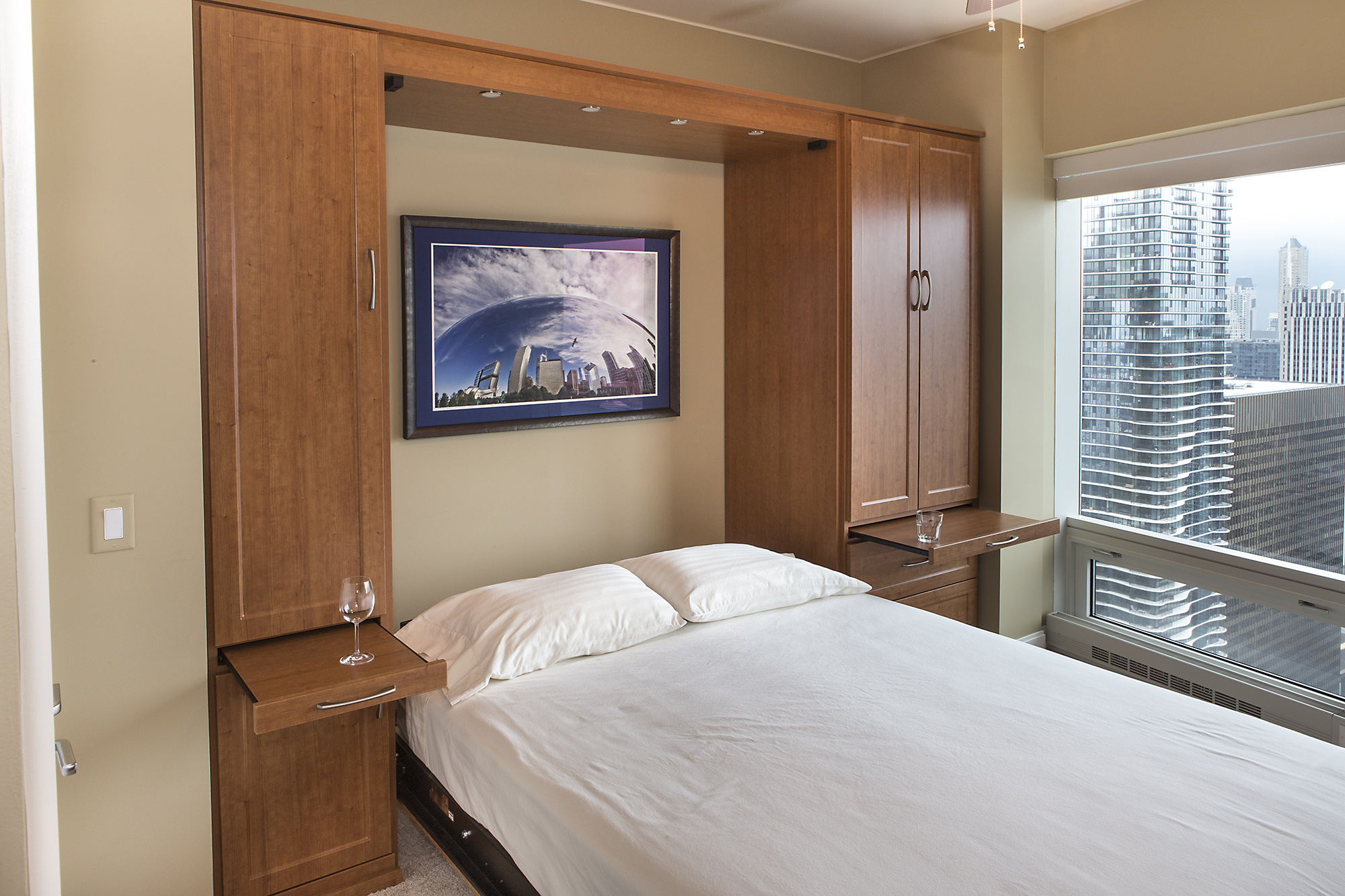 Murphy beds chicago homesfeed murphy bed pic window drawer cabinet amipublicfo Images