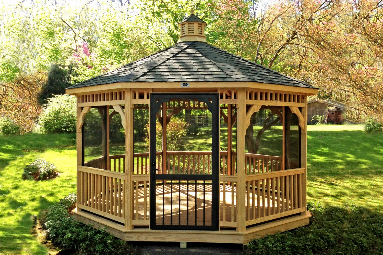Canopies And Gazebos : Purchasing wood gazebo kits advantages homesfeed