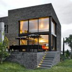 natural stone modern siding options beautiful modern home design comfortable front patio space wide green front yard