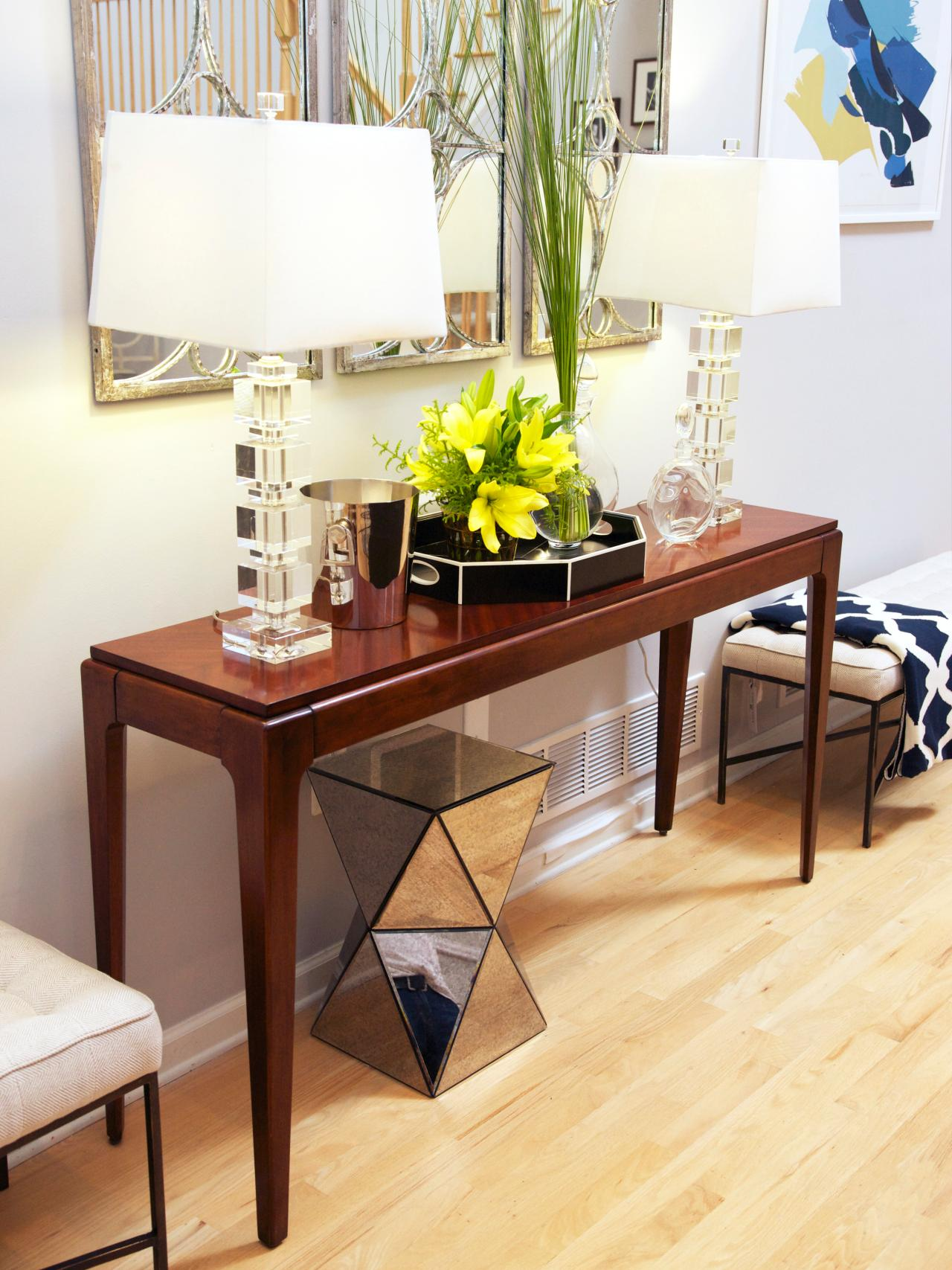 Between Wood and Glass Long Console Tables | HomesFeed