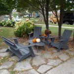 outdoor recycled milk jug furniture grey plastic lumber chairs grey plastic lumber rables cute pumpkins accent frontyard furniture green tress