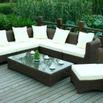 outdoor target patio chairs with rattan sectional sofa and sleeper chair plus white cushion and rectangle coffee table