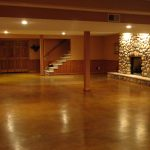 painting basement floors shiny brown concrete basement floors