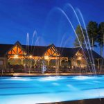 pavilion pool water lamp house