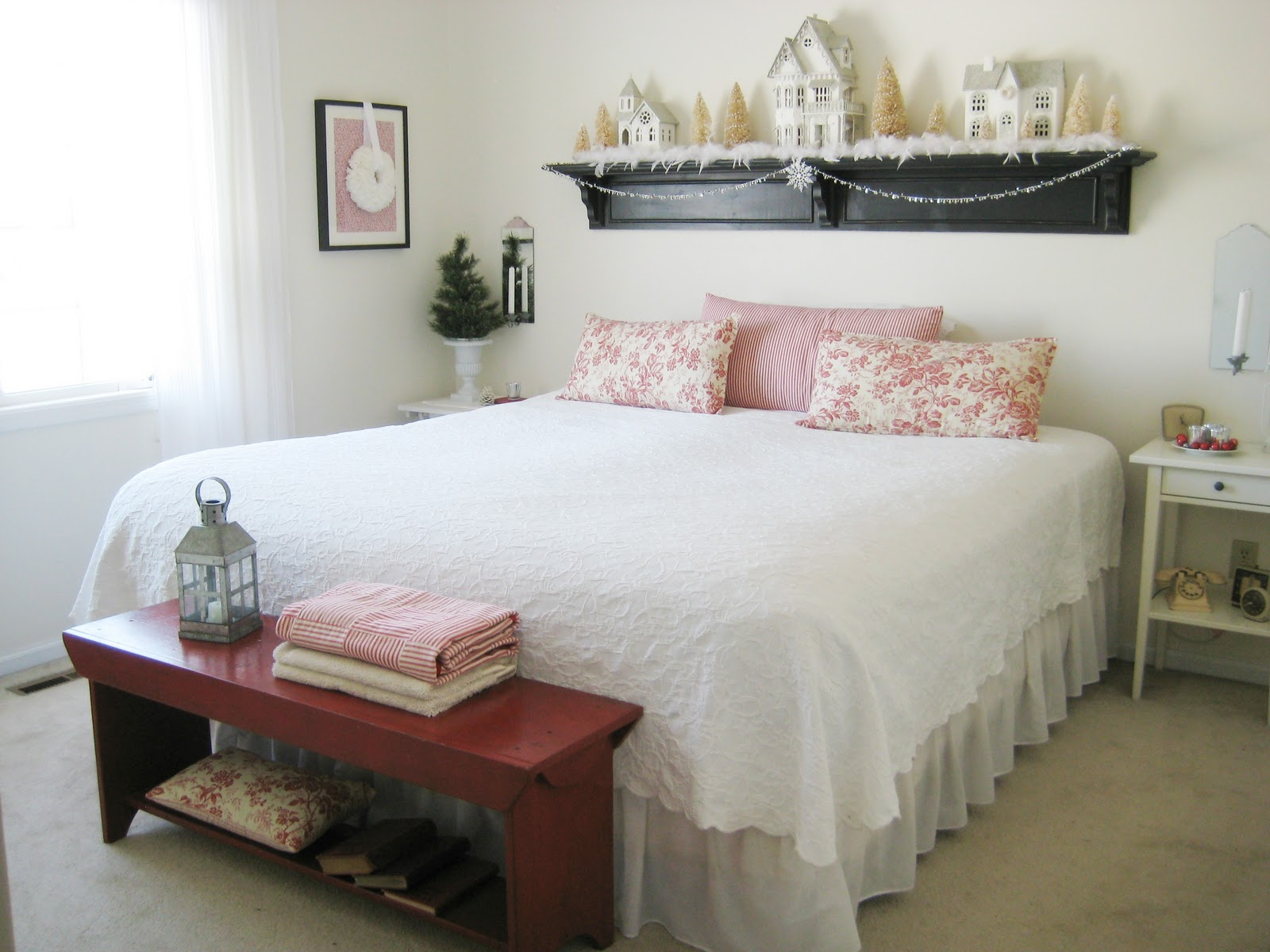 pillows table books bed lamp accessories Inspiration