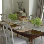 plants table cloth pads chairs glass