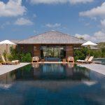 pool pavilion chairs plant