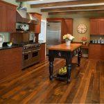 red pine flooring kitchen wooden kitchen furniture beautiful decorative flower classic white wall clock