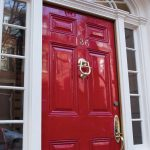 refinish front door beautiful clean red refinised front door