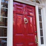 refinish front door beautiful clean red refinised front door