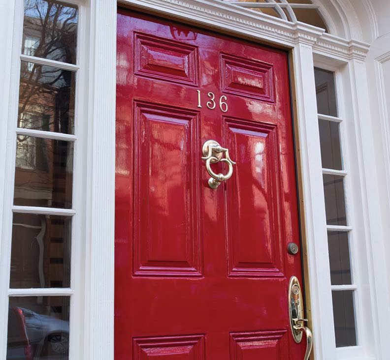Red Front Door: Step By Step To Do-it-Yourself Refinish Front Door